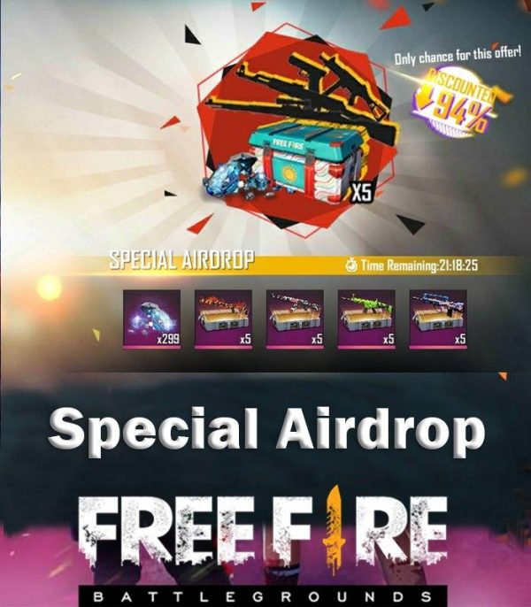 free fire special airdrop